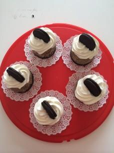 Cheesecakes aux oréos et au chocolat blanc